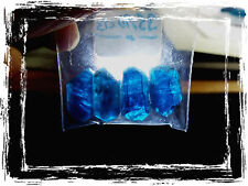 4) SIX SIDED Translucent Terminated Natural Blue Apatite Crystal Rough