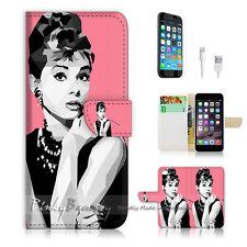 iPhone 6 / 6S (4.7') Flip Wallet Case Cover! P0399 Audrey Hepburn