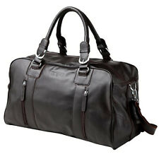 Mens Genuine Leather Travel Luggage Duffle Gym Bag Shoulder Bags Laptop Case