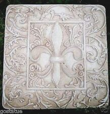 "abs plastic fleur de lis stepping stone  mold 10"" x 10"" x over 1"" thick"