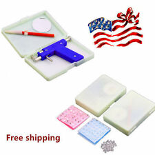 Professional Steel Ear Nose Navel Body Piercing Gun 72pcs Studs Tool Kit Set OR