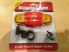 NEW & IMPROVED Bicycle Light LED Flash & Steady Modes