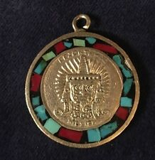 Silver Medallion Of Cezontemoc Sculpture Mexico