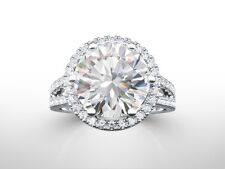 5 CARAT ROUND NATURAL ENHANCED DIAMOND SOLITAIRE ENGAGEMENT RING 18K WHITE GOLD