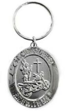 Saint Christopher Ride with Me Motorcycle Cross Medallion Key-chain Ring BH010