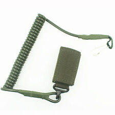 Tactical Safety Spring String Buckle Cord Carabiner Hook Strap Lanyard Military