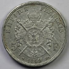 France, Napoleon III (1852-1870): 5 Francs 1869 A