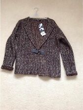 Brown Flecked Knitted Cardigan, New With Tags