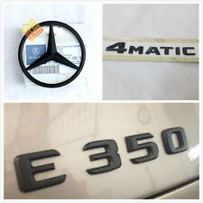 3X Genuine E350 Star 4matic Trunk emblem Badges For Mercedes-Benz W212 2010-2015