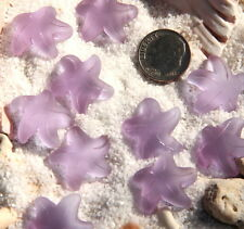 2Pc~Small~20mm~Side Drilled~PERIWINKLE~ Seaglass Starfish Bead Pendant-