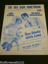 ORIGINAL SHEET MUSIC - THE ABA DABA HONEYMOON - JANE POWELL