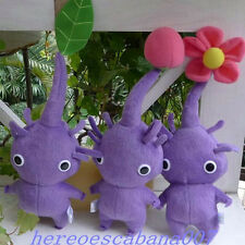 "New 3pcs/set Pikmin PURPLE~11"" FLOWER LEAF BUD PLUSH DOLLS BEST COLLECTION ~"