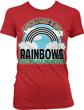 When I was a Kid Rainbows were Black and White - Old Funny Juniors T-shirt