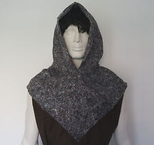 MEDIEVAL HOOD ADULT REENACTMENT COSTUME VIKING PAGAN GAME OF THRONES  COSPLAY