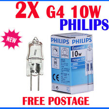 2x Philips g4 10w 12v clear Essential halogen bulb light Globe white