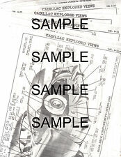 1946 1947 1948 1949 1950 - 1954 CADILLAC CHASSIS BODY PART NUMBERS CRASH SHEETS!