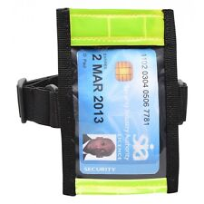 Hi Vis Tactical ID Arm Band Holder Security ID Badge Card  Doorman Armband SIA