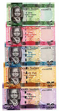 South Sudan … P-5-9 … 1-50 Pounds … ND(2011) … *UNC*