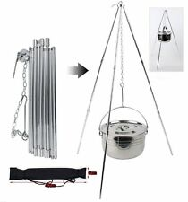 Useful Tripod Grill Hanger For Camping Hunting Outdoor Cooking Fire Pit