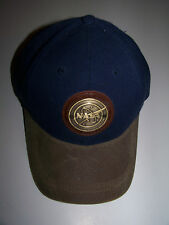 Nasa Bronze Meatball Insignia Logo Space Hat Leather Adjustable
