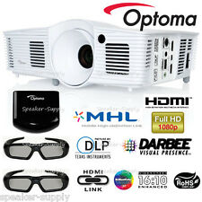 Optoma HD28DSE 1080p 3D DLP Home Theater Gaming Projector + Glasses RF OPT2016K