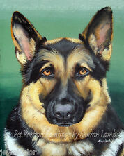 Custom Pet Painting Pet Portrait Hand Painted Animal Artist Sharon Lamb