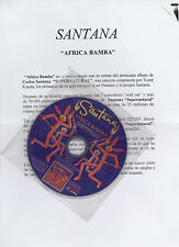 "SANTANA ""AFRICA BAMBA"" RARE SPANISH PROMO CD SINGLE + PRESS NOTE / SUPERNATURAL"