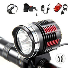 6000Lm 3x CREE XM-L2 LED Front Bike Bicycle HeadLamp Headlight Light 12000mAh
