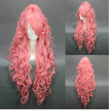 Full Hair Hot Popular VOCALOI D-Megurine Luka Anime On Lady Wig Ponytail Copslay