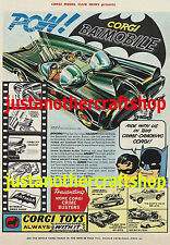 Corgi Toys Batman Batmobile 267 1966 Large Size A3 Poster Advert Leaflet Sign