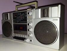 SANYO VINTAGE BOOMBOX M9815K PORTABLE STEREO CASSETTE AM FM SHORTWAVE 1983