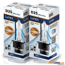 2 x D2S Genuine LUNEX XENON BULB REPLACEMENT FOR PHILIPS , GE OR OSRAM - 6000K