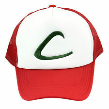 Fancy Pokemon Ash Ketchum Baseball Hat Cap Trainer Cosplay Halloween Costume