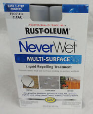 RUST-OLEUM NEVER WET, FROSTED CLEAR MULTI-SURFACE LIQUID REPELLANT TREATMENT,NEW