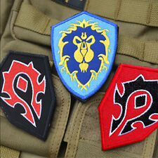 3 PCS World of Warcraft ALLIANCE 3 Game EMBROIDERED VELCRO PATCH Morale Badge