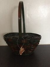 wicker basket with handle Easter Hyacinth Plant Florist Mothers Day