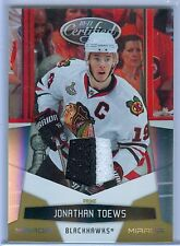 JONATHAN TOEWS 2010-11 CERTIFIED MIRROR GOLD PRIME GAME USED JERSEY SP/25