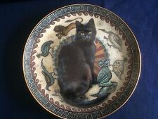 """Danbury Mint Cats Around The World """" Gabrielle In Greece """" plate"""