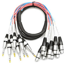"Seismic Audio 8 Channel 5' XLR Female to 1/4"" TRS Audio Snake Cable"