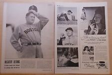 Vintage 1948 magazine article - McCarthy returns to Boston Red Sox, Ted Williams