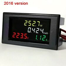 AC200v-450v 100a Color LCD electric energy power meter digital voltmeter ammeter