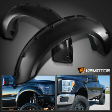 11-16 Ford F250/350 SuperDuty Offroad Black Pocket Style Rivet Fender Flares
