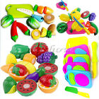 6x Child Kid Pretend Role Play Kitchen Fruit Vegetable Food Toy Gift Cutting Set
