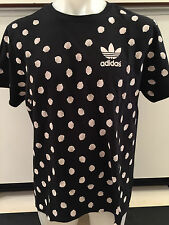 ADIDAS POLKA SHELLS BLACK GRAPHIC TEE T SHIRT MENS SIZE LARGE NWT