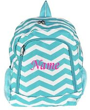 Personalized Chevron Large School Book Bag Backpack Monogram Name Embroidery