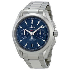 Omega Seamaster Aqua Terra Blue Dial Chronograph GMT Mens Watch