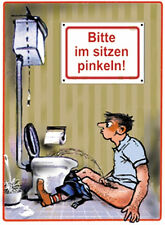 Please in sit pee Tin Sign 8x11 cm Sheet map Sign PC-201/412