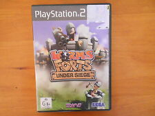 PS2 WORMS FORTS UNDER SEIGE GAME DISC V GD COND - FAST POST