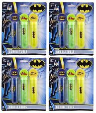 12 x LARGE BATMAN JOKER BUBBLE TUBES & WANDS PARTY LOOT BAG FILLER TOYS 620242