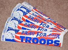 """Wholesale Lot of 98 Pieces """"Pray For Our Troops"""" Bumper Stickers Military Gift"""